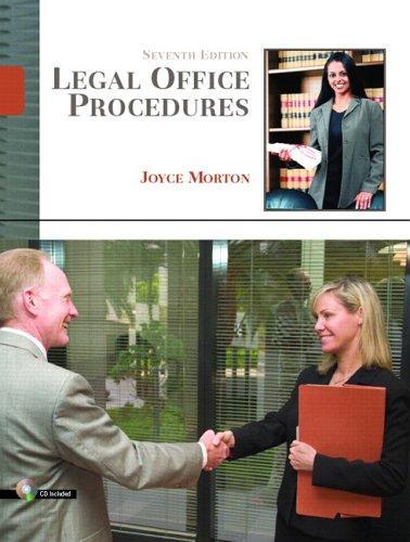 Download Legal office procedures