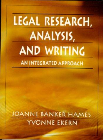 Download Legal research, analysis, and writing