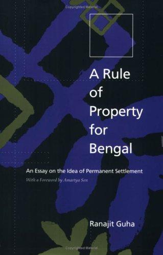 Download A rule of property for Bengal