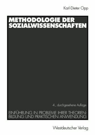Methodologie der Sozialwissenschaften.