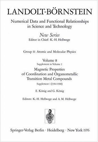 Download Magnetic Properties of Coordination and Organometallic Transition Metal Compounds / Magnetische Eigenschaften der Koordinations- und metallorganischen … Relationships in Science & Technology)