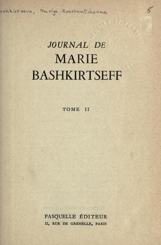 Journal de Marie Bashkirtseff.