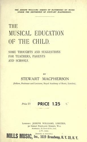 Download The musical education of the child