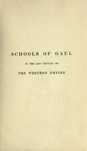 Schools of Gaul