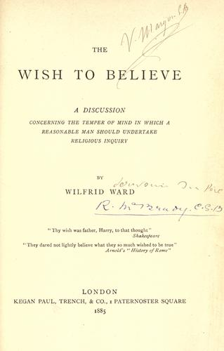 The wish to believe