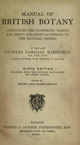 Download Manual of British botany