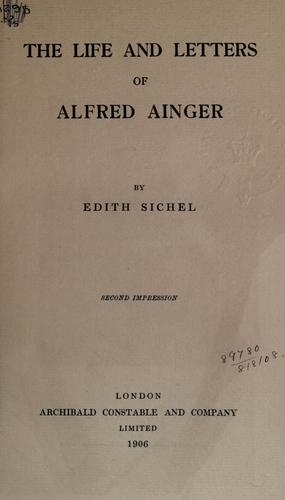 Download The life and letters of Alfred Ainger.