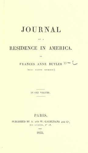 Download Journal of a residence in America
