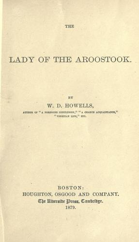 The Lady of the Aroostook.