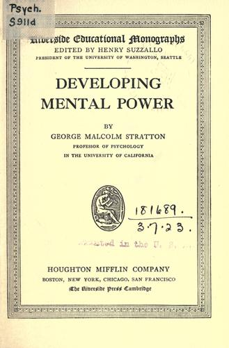 Download Developing mental power.