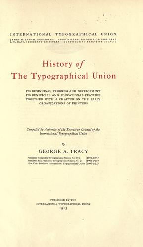 Download History of the Typographical union