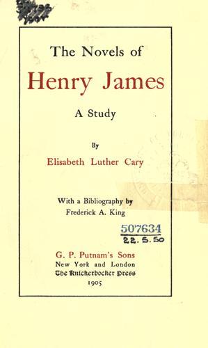 The novels of Henry James