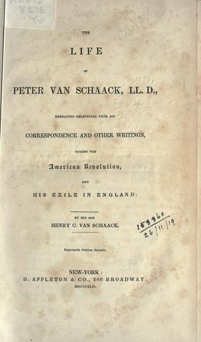 Download The life of Peter Van Schaack, LL.D.