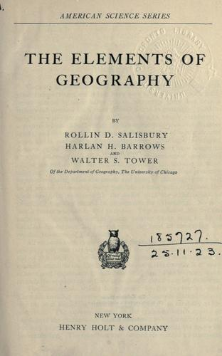 The elements of geography.