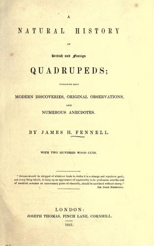 A natural history of British and foreign quadrupeds