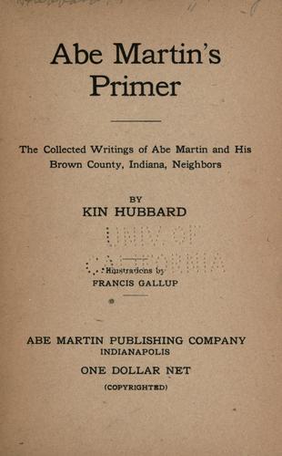 Abe Martin's primer