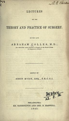 Download Lectures on the theory and practice of surgery