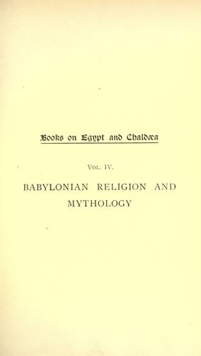 Babylonian religion and mythology.