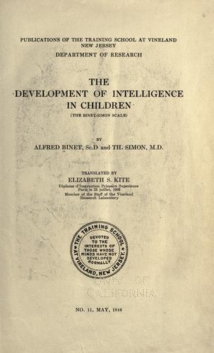 Download The Development of Intelligence in Children