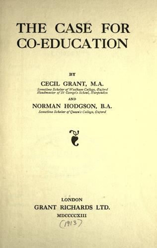 Download The case for co-education