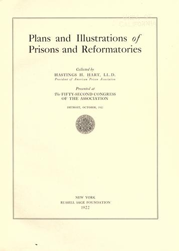 Download Plans and illustrations of prisons and reformatories