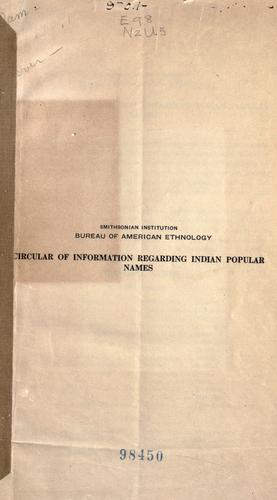 Download Circular of information regarding Indian popular names.