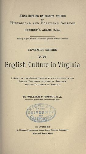 Download English culture in Virginia