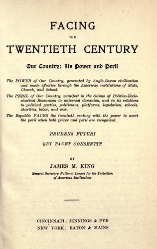 Facing the twentieth century.