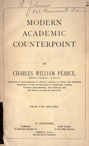 Download Modern academic counterpoint