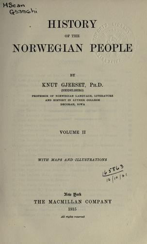 History of the Norwegian people.