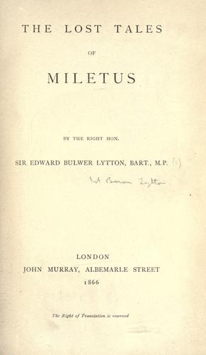 Download The lost tales of Miletus