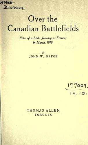 Over the Canadian battlefields