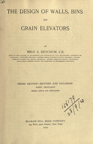 The design of walls, bins and grain elevators.
