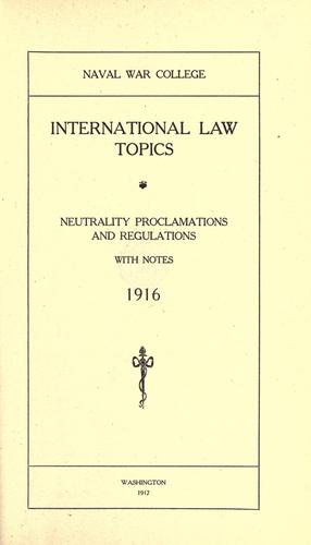International law topics
