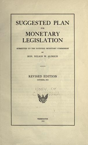 Download Suggested plan for monetary legislation
