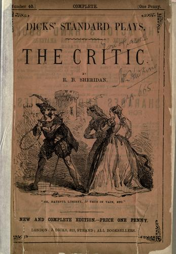 Download The critic or, A tragedy rehearsed