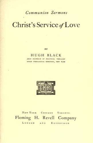 Christ's service of love.