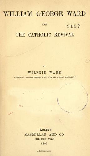 Download William George Ward and the Catholic revival.