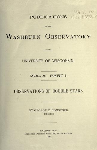 Observations of double stars 1892-1919