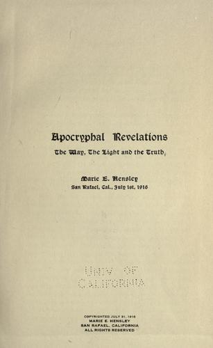 Apocryphal revelations