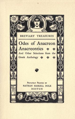 Download Odes of Anacreon