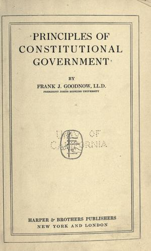 Download Principles of constitutional government