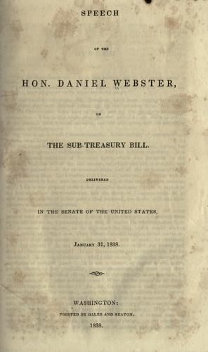 Speech of the Hon. Daniel Webster by Webster, Daniel