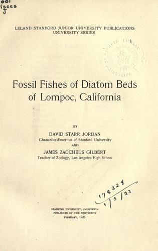 Download Fossil fishes of diatom beds of Lompoc, California