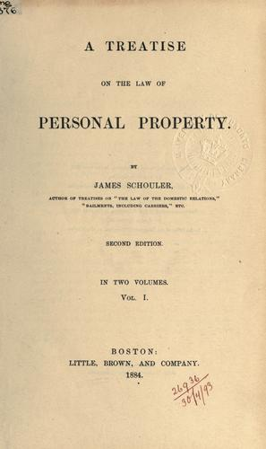 Download A treatise on the law of personal property.