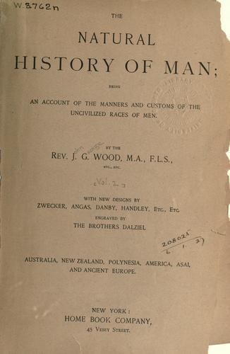 Download The natural history of man