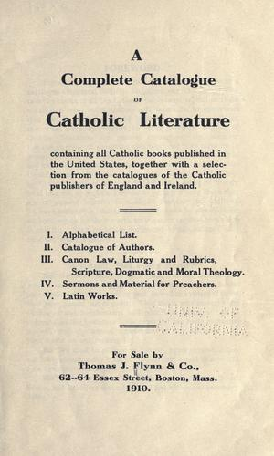 Download A complete catalogue of Catholic literature