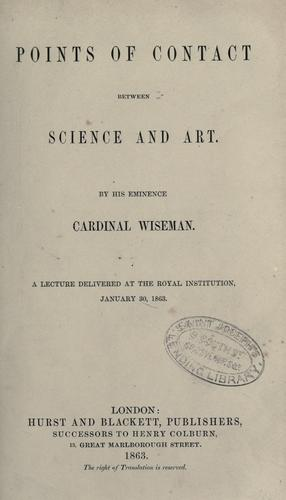 Download Points of contact between science and art