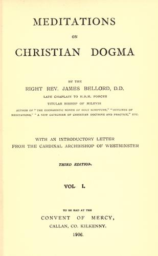 Meditations on Christian dogma.