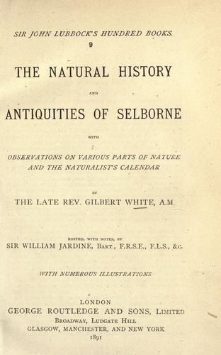 Download The natural history and antiquities of Selborne